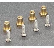 "BRM S-513A Brass ""nut"" bearings stock H4.5mm + screws x4"