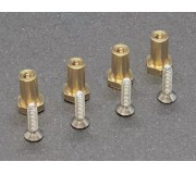 "BRM S-513B Brass ""nut"" bearings H6.5mm + screws x4"