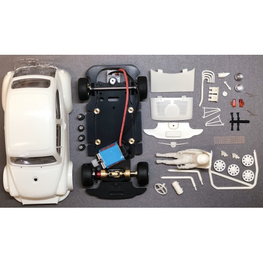 BRM FIAT ABARTH 1000 TCR Full White Kit - preassembled chassis