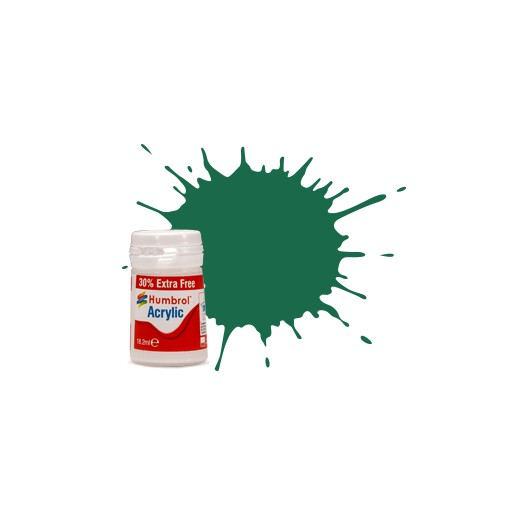 Humbrol AB0030EP No. 30 Vert Foncé Mat - 14ml Peinture Acrylique plus 30% de contenu gratuit