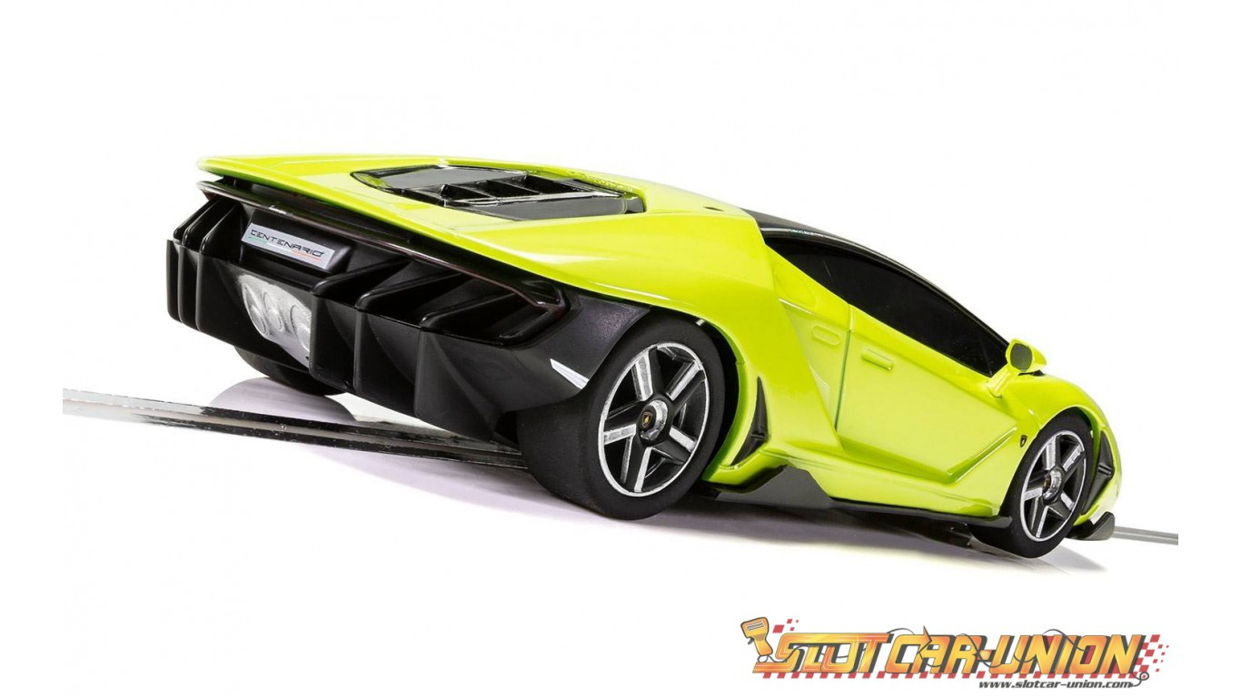 Scalextric C3957 Lamborghini Centenario Green Slot Car Union