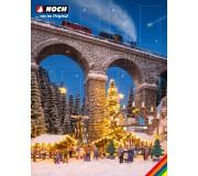 """NOCH-65590 Calendrier de l'Avent Créatif """"Marché de Noël"""""""