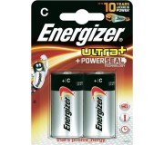 Batteries C (LR14) - Energizer Ultra+ x2
