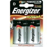 Batteries D (LR20) - Energizer Ultra+ x2