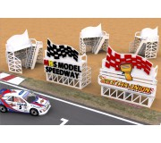 MHS Model SB-43 SCU Stand de Course Slot Car-Union avec Logo