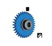 "Ninco 80247 Crown Prorace Anglewinder 33 teeth blue 3/32"""