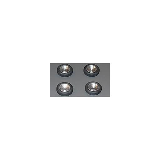 Proto Slot-Kit SR10 Set de 4 Jantes Alu BRM 14x5,5mm + 4 Pneus 20x7mm + 4 Vis de serrage