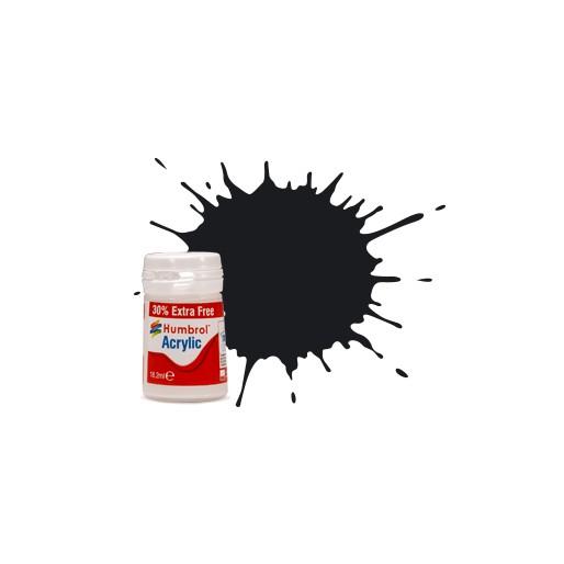 Humbrol AB0021EP No. 21 Black Gloss - 14ml Acrylic Paint plus 30% extra free