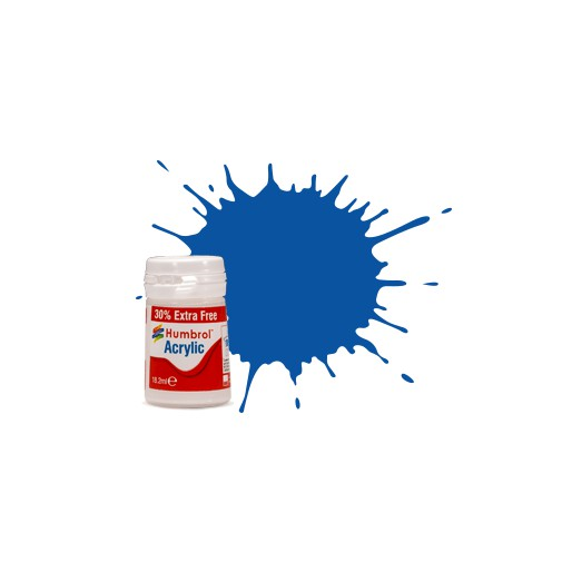 Humbrol AB0014EP No. 14 French Blue Gloss - 14ml Acrylic Paint plus 30% extra free