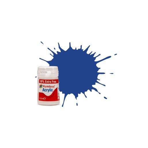 Humbrol AB0025EP No. 25 Blue Matt - 14ml Acrylic Paint plus 30% extra free