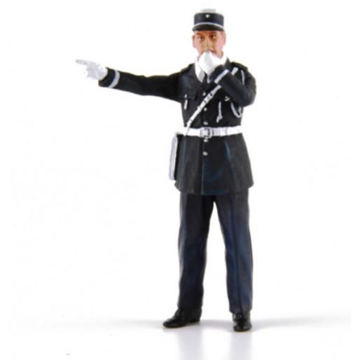 LE MANS miniatures Figurine André, policier avec son sifflet
