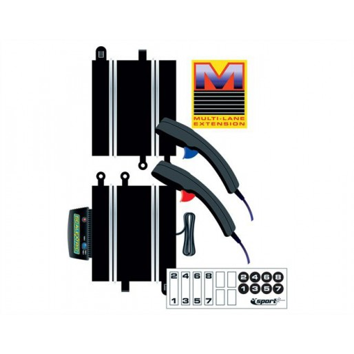 Scalextric C8241 Power & Control Base Multi-lane + 2 Hand Controllers