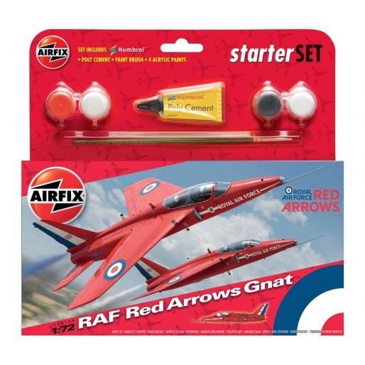 Airfix RAF Red Arrows Gnat Starter Set 1:72