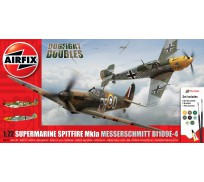Airfix Spitfire MkIa et Messerschmitt Bf109E-4 Dogfight Doubles Coffret Cadeaut 1:72