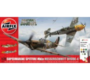 Airfix Spitfire MkIa and Messerschmitt Bf109E-4 Dogfight Doubles Gift Set 1:72