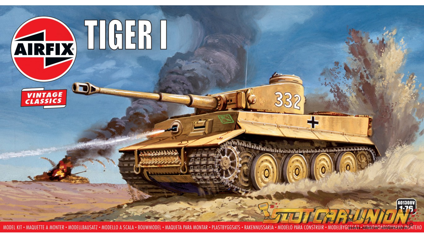 Airfix Vintage Classics Tiger 1 176 Slot Car Union