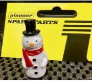 Pioneer FA203501 Xmas Snowman, Black Hat, Red Scarf