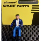 Pioneer FD201334 Painted Driver Figure, Casual Dress, Blue Jacket, White Shirt