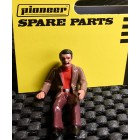 Pioneer FD201336 Painted Driver Figure, Casual Dress, Brown Jacket, Red Shirt