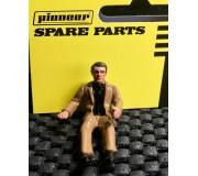 Pioneer FD201338 Figurine Pilote Peinte, Tenue Décontractée, Veste Marron, Chemise Noire