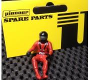 Pioneer FD201571 Figurine Pilote Peinte (Moderne), Casque Noir, Combinaison Rouge