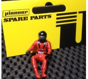 Pioneer FD201571 Painted Driver Figure (Modern), Black Helmet, Red Suit