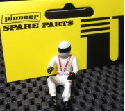 Pioneer FD201572 Painted Driver Figure (Modern), White Helmet, White Suit