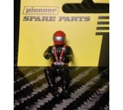 Pioneer FD201574 Painted Driver Figure (Modern), Red Helmet, Black Suit