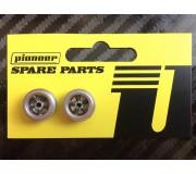 Pioneer WH201201 Front wheels (Silver rim / dark gray spokes) (pair)