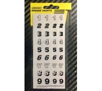 Pioneer DS202715 Feuille d'autocollant No 5, Numéros de Course (1-9)