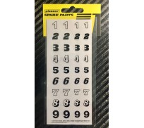 Pioneer DS202715 Sticker sheet No 5, Racing Numbers (1-9)