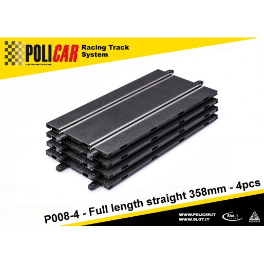 Policar P008-4 Full Length Straight 358mm x4 - Slot Car-Union