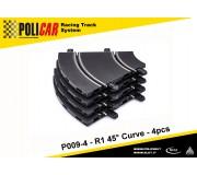 Policar P009-4 R1 45° Curve x4