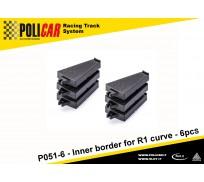 Policar P051-6 Inner Border for R1 Curve x6