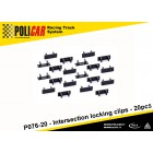 Policar P076-20 Clips de Verrouillage Intersection x20