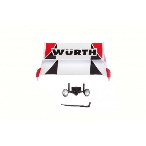 "Carrera DIGITAL 124 85538 Spare Parts for Ford Capri Zakspeed Turbo ""Würth-Zakspeed Team, No.2"""