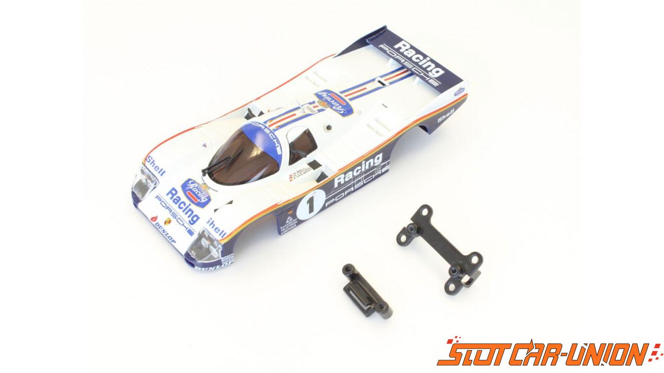 kyosho carrosserie dslot43 porsche 962c lh racing no 1. Black Bedroom Furniture Sets. Home Design Ideas