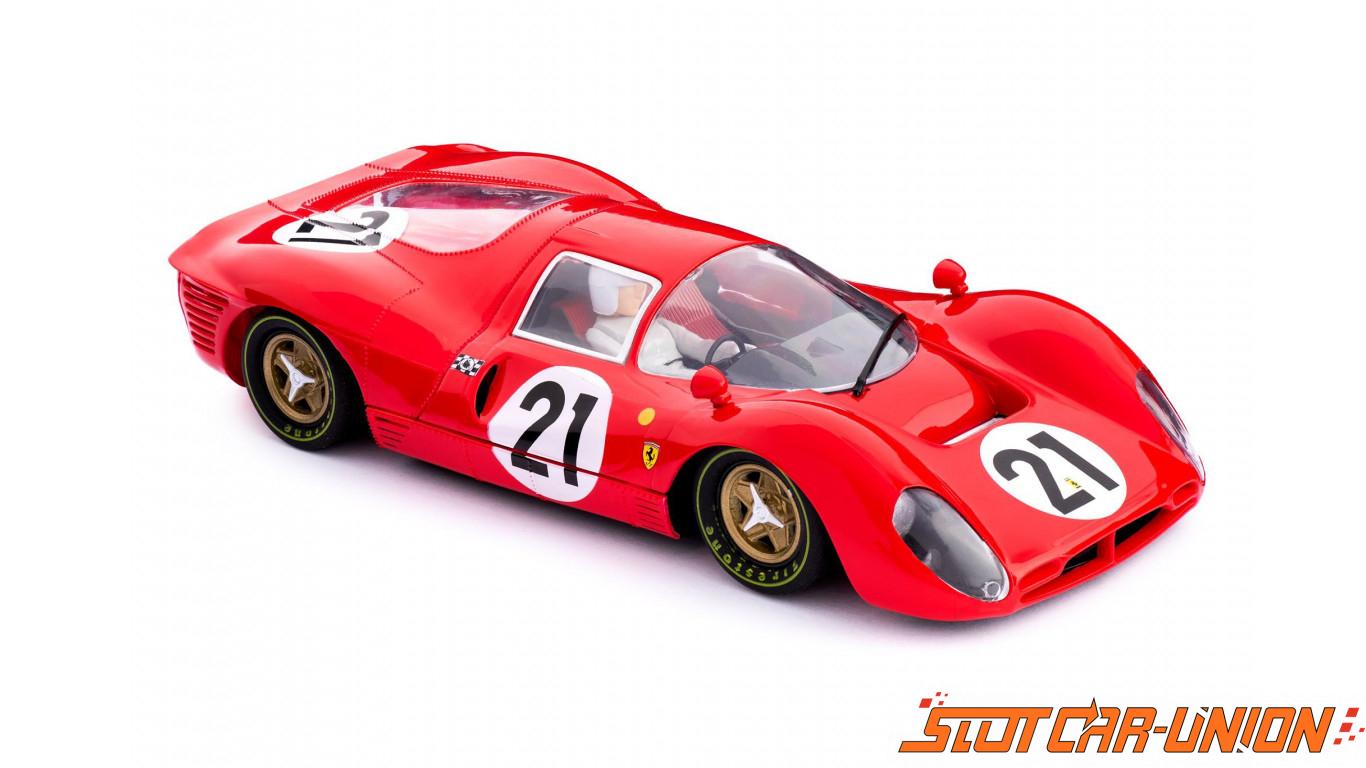 Policar Car06a Ferrari 330 P4 N 21 2nd Le Mans 1967 Slot Car Union