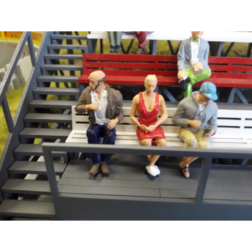 Slot Track Scenics Fig. 14 Spectateurs Assis Pack A