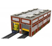 Proses LS-035 O Scale Laser-Cut Double Modern Engine House