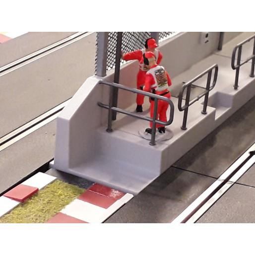 Slot Track Scenics Paire d'Extrémités pour Mur de Stand
