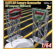 MHS Model SB-3 3D Logo Billboards (Texaco-Sinclair) x2