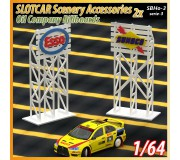 MHS Model SBHo-3s3 1/64 Series-3 Panneaux Logo 3D (Esso-Sunoco) x2