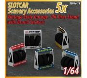 MHS Model SB-11 Vintage Style Pit & Garage Tire Stand x5