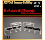 MHS Model SB-10s2 Trackside Billboards - Michelin-Bridgestone