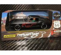 Pioneer P064-RP Mustang Fastback GT STEALTH, Black with Red Pony, 'Route 66'