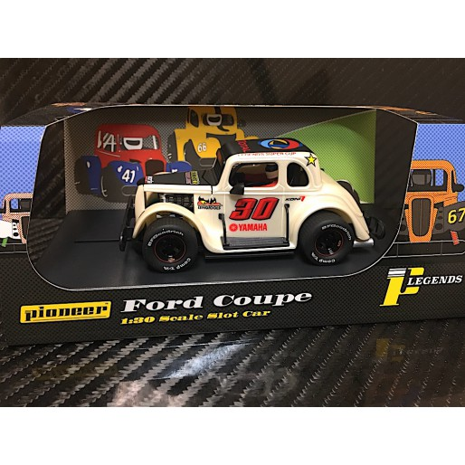 Pioneer P081 Legends Racer 34 Ford Coupe Pearl White N 30 Slot