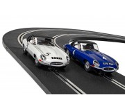 Scalextric C4062A Legends Jaguar E-Type First Win 1961 Twin Pack - Limited Edition