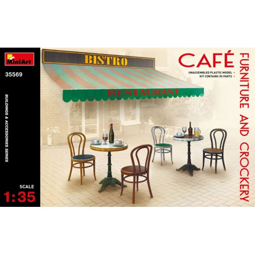 MiniArt 35569 Café Furniture & Crockery