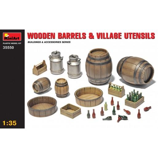 MiniArt 35550 Tonneaux en Bois & Ustensiles de Village